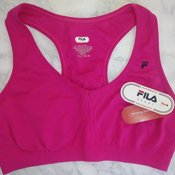 c109c0b2ca47f FILS Sport Performance Sports Bra Size L Pink